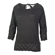 Buy Fat Face Chiddingfold Keyhole Detail Jumper, Phantom Online at johnlewis.com