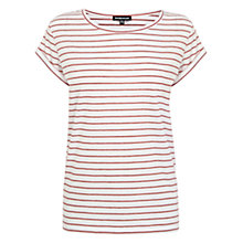 Buy Warehouse Stripe Boyfriend T-Shirt Online at johnlewis.com