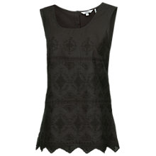 Buy Fat Face Lace Front Button Back Top Online at johnlewis.com