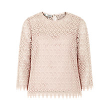 Buy Hobbs Marlena Top, Porcelain Pink Online at johnlewis.com