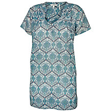 Buy Fat Face Laverstoke River Tunic Top, Blue/White Online at johnlewis.com