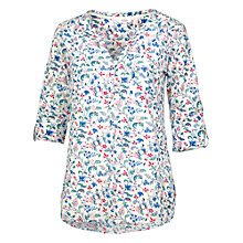 Buy Fat Face Mollie Bird Bloom Popover Blouse, White Online at johnlewis.com