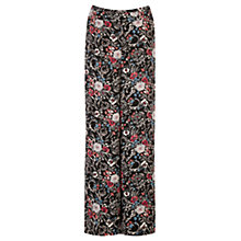 Buy Warehouse Folk Floral Wide Leg Trousers, Multi Online at johnlewis.com