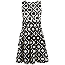 Buy Closet Open Back Box Pleat Dress, Black/White Online at johnlewis.com