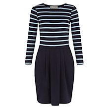 Buy Hobbs Layla Dress, Navy Blue Online at johnlewis.com