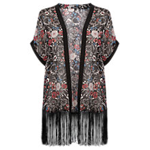 Buy Warehouse Printed Fringed Kimono, Multi Online at johnlewis.com