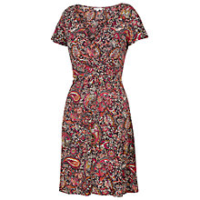 Buy Fat Face Camille Batik Paisley Dress, Phantom Online at johnlewis.com