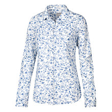 Buy Fat Face Classic Fit Bird Blues Shirt, Blue/White Online at johnlewis.com