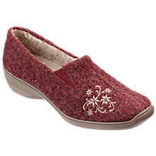 Buy Hotter Trixie Floral Appliqué Slippers Online at johnlewis.com