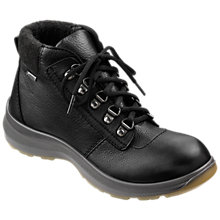 Buy Hotter Wharfe Cushioned Collar Walking Boots, Black Leather Online at johnlewis.com