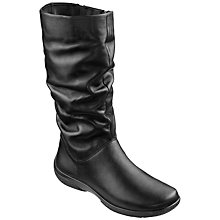 Buy Hotter Mystery Mid Calf Boots Extra Wide Fit, Black Online at johnlewis.com