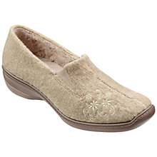 Buy Hotter Trixie Floral Appliqué Slippers,  Light Taupe Online at johnlewis.com