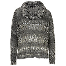 Buy Betty Barclay Oversized Chunky Knit Jumper, Black/Grey Online at johnlewis.com