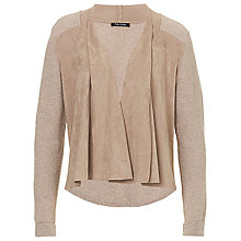 Buy Betty Barclay Faux Suede Waterfall Cardigan, Cream Melange Online at johnlewis.com