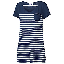 Buy Fat Face Linen Blend Stripe Tunic Top, Navy Online at johnlewis.com
