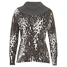 Buy Betty Barclay Graphic Fine Knit Jumper, Grey Cream Online at johnlewis.com