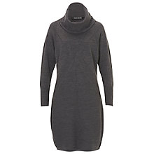 Buy Betty Barclay Knitted Cowl Neck Dress, Dark Grey Melange Online at johnlewis.com