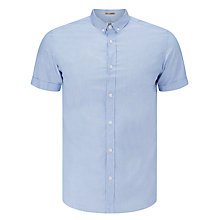 Buy Kin by John Lewis Cross Pattern Dobby Short Sleeve Shirt, Blue Online at johnlewis.com