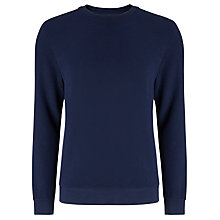 Buy Kin by John Lewis Cotton Pique Sweatshirt, Navy Online at johnlewis.com