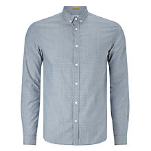 Buy Kin by John Lewis Dot Chambray Shirt, Blue Online at johnlewis.com