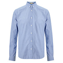 Buy Kin by John Lewis End-on-End Button Collar Shirt, Blue Online at johnlewis.com