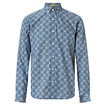 Buy Kin by John Lewis Modern Floral Poplin Slim Fit Shirt, Navy Online at johnlewis.com