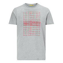 Buy Kin by John Lewis Minimal Check Print T-Shirt, Grey Online at johnlewis.com