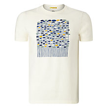 Buy Kin by John Lewis Modern Floral Print T-Shirt, Cream Online at johnlewis.com