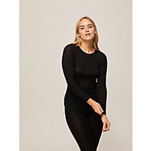 Buy John Lewis Ribbed Long Sleeve Silk Thermal Vest Online at johnlewis.com