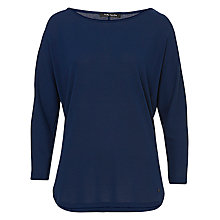 Buy Betty Barclay Oversized Slash Neck Jumper, Dress Blue Online at johnlewis.com