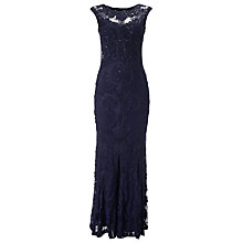 Buy Phase Eight Leona Tapework Dress, Navy Online at johnlewis.com