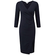 Buy Pure Collection Canford Jersey Wrap Dress, Navy Online at johnlewis.com