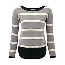 Buy Pure Collection Radley Cotton Sweater, Black / Ecru Online at johnlewis.com