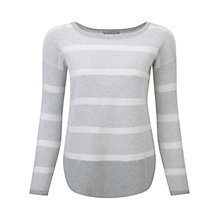 Buy Pure Collection Salcombe Sweater, Grey / White Online at johnlewis.com