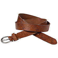 Buy Fat Face Daisy Embossed Leather Belt, Tan Online at johnlewis.com