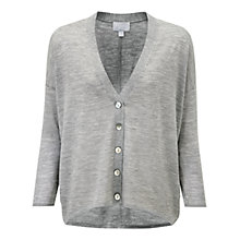 Buy Pure Collection Mackay Cardigan, Heather Smoke Online at johnlewis.com