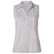 Buy White Stuff Flower Spot Cotton Shirt, White Online at johnlewis.com