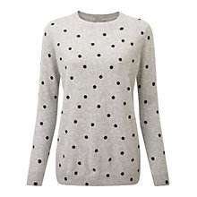 Buy Pure Collection Abingdon Spot Cashmere Jumper, Heather Dove Online at johnlewis.com