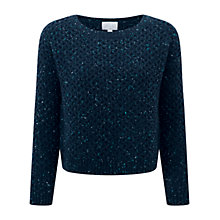 Buy Pure Collection Vanbrugh Textured Wool Sweater, Navy Online at johnlewis.com