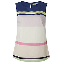 Buy White Stuff Island Stripe Linen Cotton Vest, Multi Online at johnlewis.com