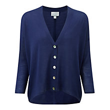 Buy Pure Collection Wool Lainson Cardigan, Deep Sapphire Online at johnlewis.com