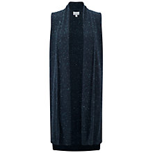 Buy Pure Collection Jameson Longline Cardigan, Heather Dove Online at johnlewis.com