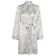 Buy John Lewis Silk Brushed Floral Robe, Grey Online at johnlewis.com
