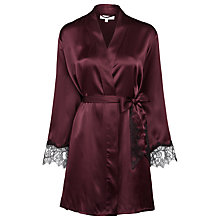 Buy Somerset by Alice Temperley Silk Robe, Grape Online at johnlewis.com