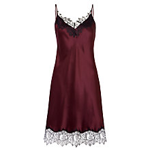 Buy Somerset by Alice Temperley Silk Chemise, Grape Online at johnlewis.com