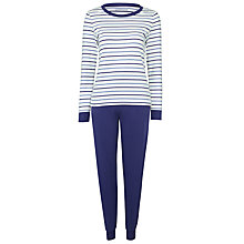 Buy John Lewis Stripe Jersey Long Sleeve Pyjama Set, Multi Online at johnlewis.com