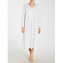 Buy John Lewis Parfait Rose Long Sleeve Nightdress, White Online at johnlewis.com