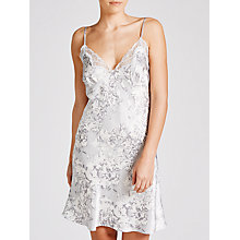 Buy John Lewis Brushed Floral Silk Chemise, Grey Online at johnlewis.com