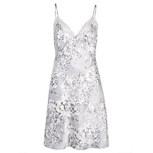 Buy John Lewis Brushed Floral Chemise, Grey Online at johnlewis.com