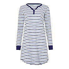 Buy John Lewis Stripe Jersey Long Sleeve Nightdress, Multi Online at johnlewis.com